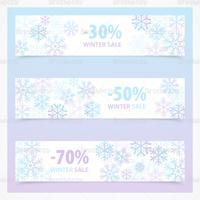 Snowflake Winter Sale Banner Vector Pack
