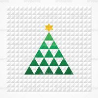 Pyramid Squares Christmas Tree Vector Background