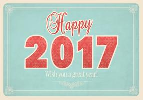 Vintage Happy New Year Vector Wallpaper