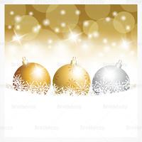 Gold Christmas Ornament Vector Wallpaper