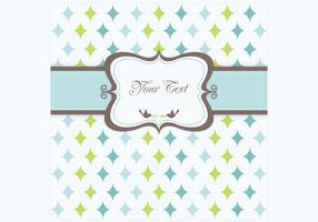 Retro Star Greeting Card Vector
