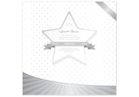Silver Polka Dot Star Vector