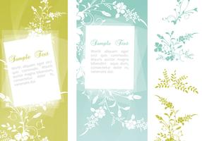 Swirly Floral Banner Vector Pack