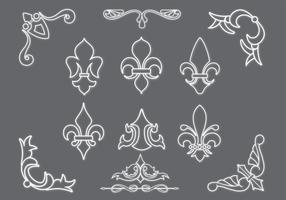 Fleur De Lis Vectors and Ornaments Pack