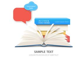 Book Background Vector