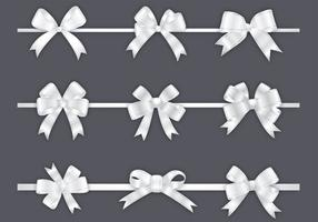 White Bow Vector Pack