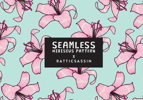 Seamless Hibiscus Pattern Vector