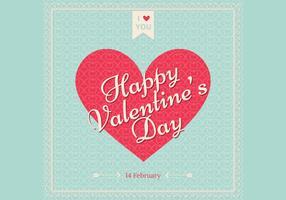 Retro Valentine's Day Wallpaper Vector