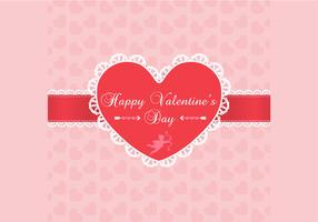 Lace Valentine's Day Background Vector
