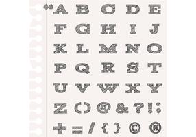 Sketchy Alphabet Vectors and Punctuation Vector Pack
