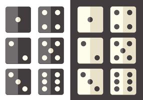 Flat Dice Icon Vector Pack