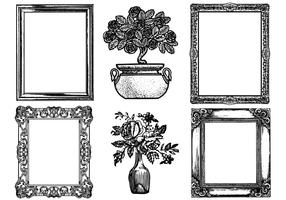 Etched Antique Picture Frame Vector Pack