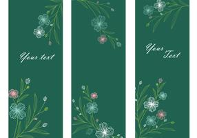 Emerald Floral Banner Vector Pack