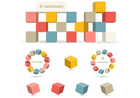 3D Business Block Vector Pack