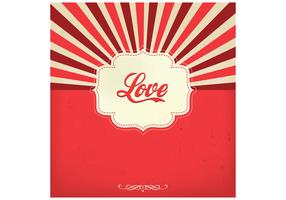 Sunburst Love Vector Background