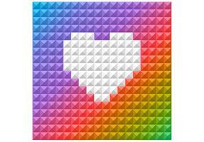 Bright Rainbow Heart Vector Background