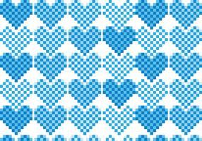 Pixel Heart Pattern Vector Pack
