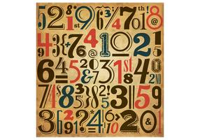 Vintage Number Vector Background