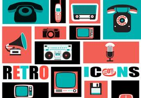 Retro Tech Icon Vector Pack
