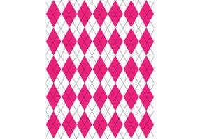 Pink, Black & White Argyle Pattern Vector