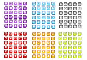 Random Free Colorful Vector Icons