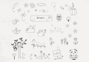 Hand Drawn Spring Vector Pack