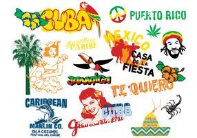 Caribbean Culture Elements Vector