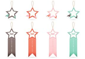 Star Tag Vector Banners