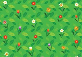 Cartoon Flower Background Vector