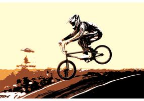Free Vector BMX Biker