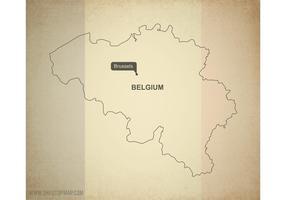 Free Vector Map of Belgium
