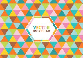 Colorful Triangle Background Vector