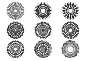 Decorative Sunburst Vectors