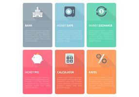 Bank Finance Design Template Vector Set