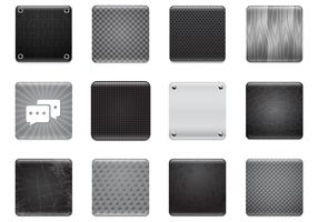 Black & Grey Apps Background Vector Set