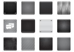 Conjunto de vetores de fundo de aplicativos preto e cinza