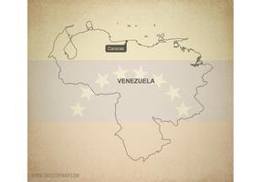 Free Vector Map of Venezuela