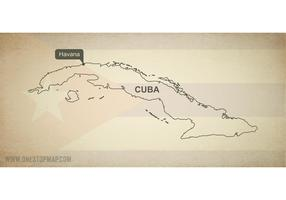 Free Vector Map of Cuba