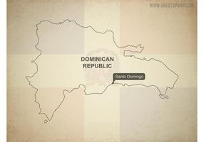 Free Vector Map of Dominican Republic