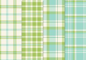 Fresh Blue Green Seamless Plaid Patterns Vector