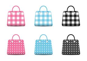 Girly Fashion Bag Icons Vector