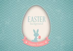 Retro Easter Card Vector