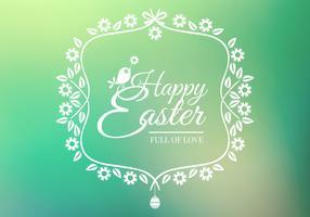 Bokeh Happy Easter Vector Background
