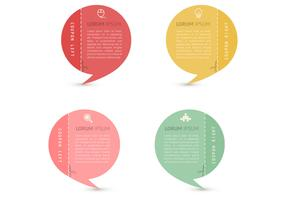 Speech Bubble Coupons Vector Set