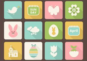 Easter Icon Vector Pack