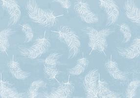 White Feathers Background Vector