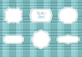 White Retro Labels Vector Set