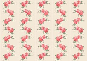 Retro Roses Seamless Pattern Vector