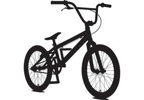 USA BMX Bicycle Vector Sillouette