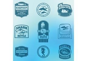 Sea and Ocean Tourism Label Vectors
